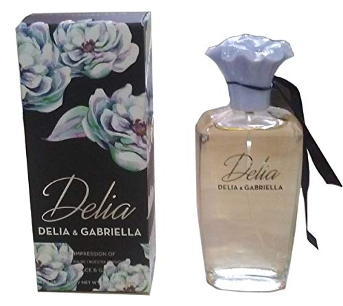 Bouquets Dolce Womens (DELIA for Women, Our Version of DG DOLCE, Eau De Parfum Spray, Perfect Gift, Neroli Leaves, Daytime and Casual Use, for all Skin Types, 3.4 Fl Oz, A Classic Bottle)