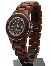 Handmade Wooden Watch Made with Natural Wood in Red - HGW-181