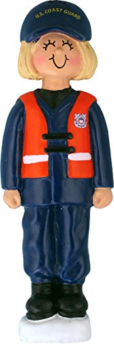 - Armed Forces Coast Guard Female Blonde Personalized Christmas Tree Ornament