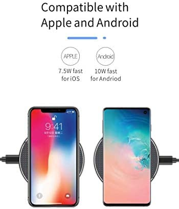 2パックワイヤレス充電器、10Wワイヤレスパッド充電、互換性サムスンS10 / S10 + / S9 / S8 / S7 /注記10/9/8 / iPhone 11/11のPro / 11プロ最大/ XS最大/XS/XR/X / 8 /