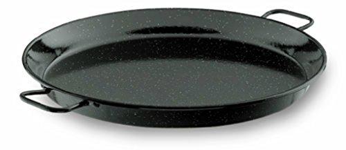 """26"""" - 65cm Vaello Black Enamel Paella Pan"""