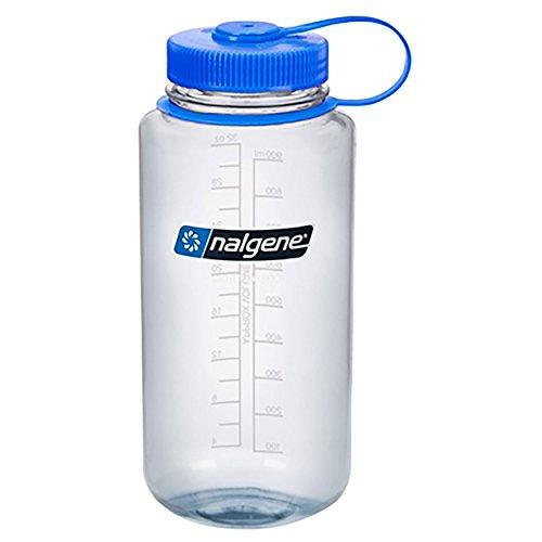 Nalgene Wide Mouth Bottle - 32 oz., Clear w/ Blue Cap