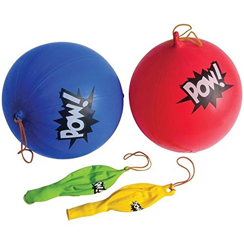 Super Hero Themed Comic Assorted 'POW' Punch Balloons - 24 Pack]()