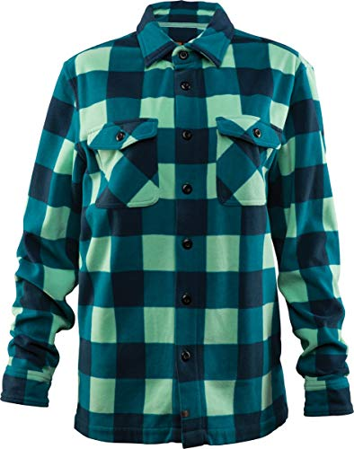 thirtytwo Women's Asher Polar Fleece Shirt, Aqua, 2019 (Large) (Best Female Snowboarder 2019)