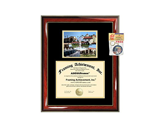 California Baptist University Diploma Frame CBU Graduation Degree Frame - Matted Campus College Photo Graduation Certificate Plaque University Framing Graduate Gift Collegiate ()