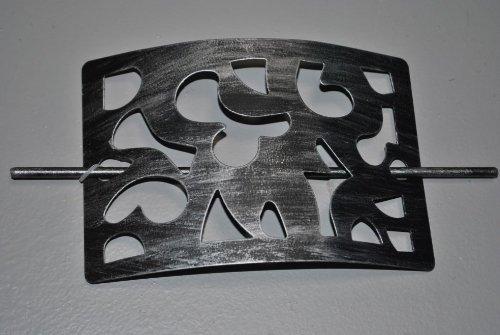 Gardinen Raffhalter, 6721514, rechteckig, Metall, Schwarz/Silber