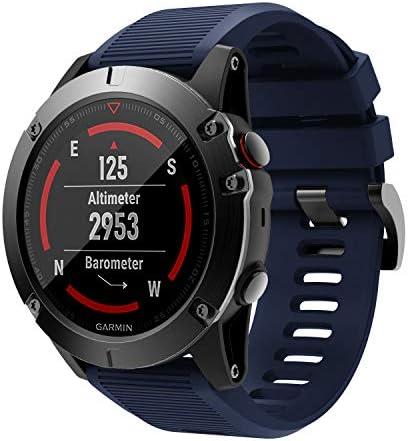 [해외]DKEnjoy Silicone Quick Fit Sports Wrist Band Replacement Watch Strap Bracelet Compatible for Garmin Fenix 5XFenix 5X PlusFenix 3Fenix 3 HR Smartwatch / DKEnjoy Silicone Quick Fit Sports Wrist Band Replacement Watch Strap Bracelet C...