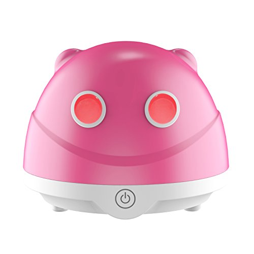 Sensky Aromatherapy Essential Oil Diffuser, 80ML Aroma Diffuser Humidifier with 7 Color-Changing Light Cute Gifts for Woman and Children (Red)