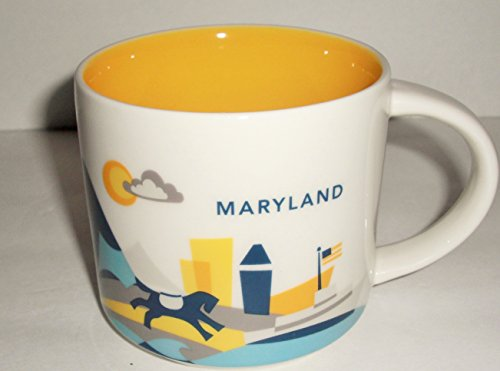 Starbucks Coffee 2015 You Are Here Collection Maryland Mug with Gift Box 14 (Starbucks Coffee Gift Box)