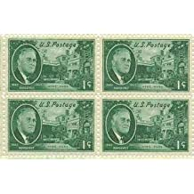 Roosevelt - Hyde Park Set of 4 x 1 Cent US Postage Stamps NEW Scot 930 by Post Office