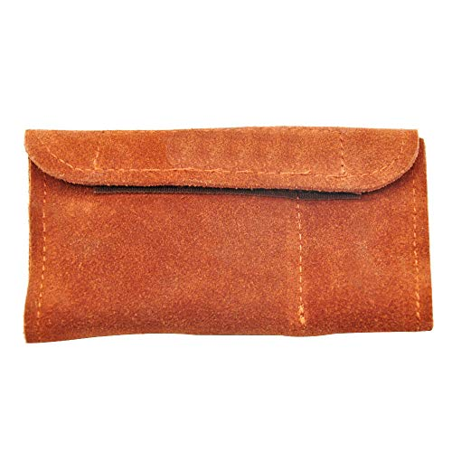 Black Genuine Leather Tobacco Pouch Bag+Snuff Snorter Tool Sniffer Straw  Hooter Hoover Pipe Case Pocket