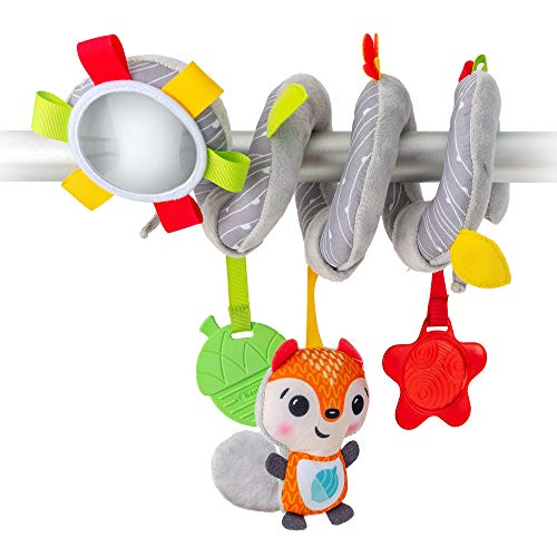 BenBat- Spiral Activity Toy, Baby Stroller Toy, Educational Toys for Children - Developmental Toys for Babies - for Car seat Toy, Teether Rattle and Safe for Baby