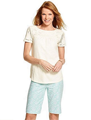 talbots-crocheted-lace-top-shirt-size-l