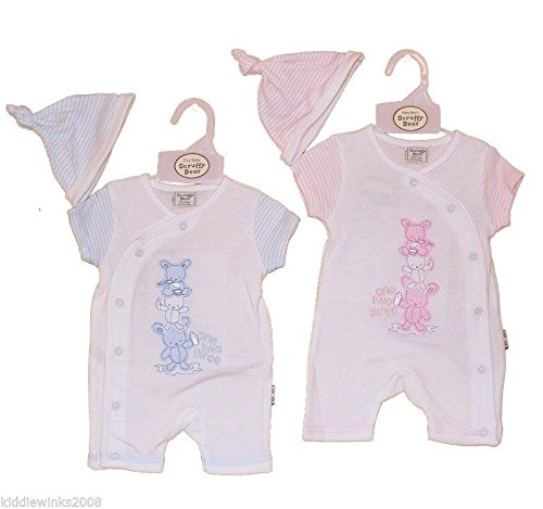 BNWT Tiny Preemie Baby Boys or girls Premature reborn Clothes romper & hat Pink)