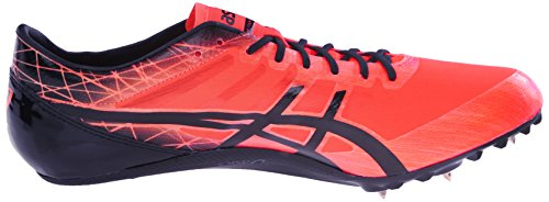 Asics hombres de sonicsprint Elite pista y campo zapatos Flash Coral/Black