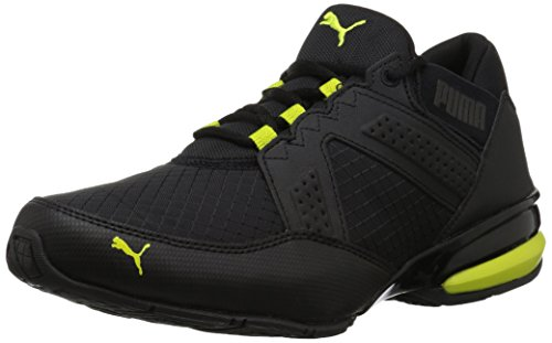Black Yellow Sneakers (PUMA Men's Enzin Ripstop Sneaker, Black-Red Yellow, 10.5 M US)
