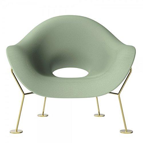 Qeeboo Pupa - Sessel grün-Messing