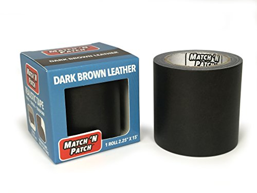 Match 'N Patch Realistic Dark Brown Leather Repair - Red Patch 15'