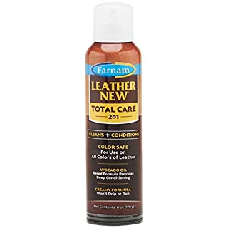 Farnam Leather New Total Care 2-in-1 Leather Cleaner & Conditioner, for use on All Leather, 6 Ounces