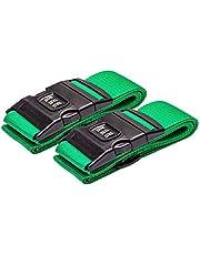 DoGeek 2 pezzi Cinghia da viaggio Cinture per valigie Cinghia da viaggio regolabile Cinghie di sicurezza per bagagli con password Lock Clip