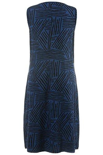 Muster Grafisches Blue Raffung Mit Streifen Bis Größe Blau Schwarz 8PkXn0wO