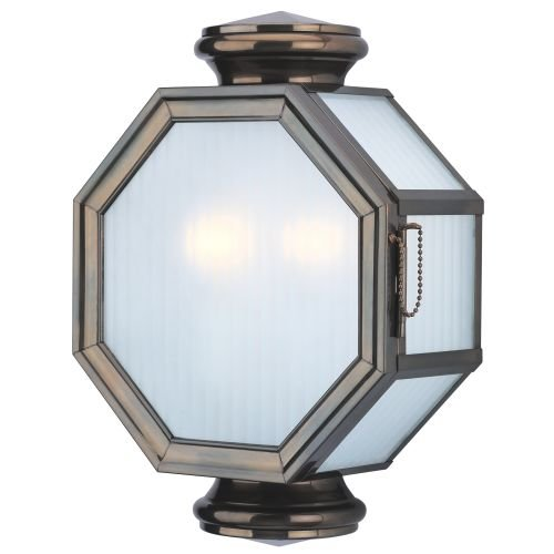 Troy Lighting B2003HB Lexington Collection 2-Light Exterior Wall Lantern, Heritage Bronze Finish with Frosted Ribbed Glass (Glass Ribbed Lantern Wall Frosted)