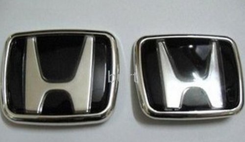Black Honda Badge Emblem Front & Rear