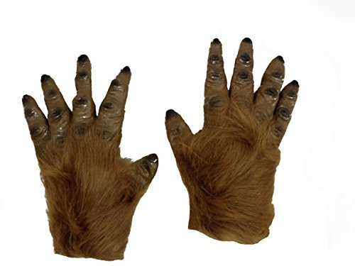 [Werewolf Bigfoot Sasquatch Furry Monster Gloves] (Realistic Sasquatch Costume)
