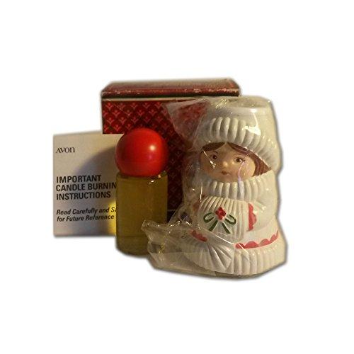Vintage 1981 Avon Christmas Charmer Candlestick Decanter Charisma Cologne .33 fl oz