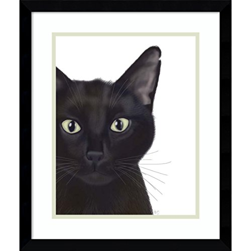 Framed Art Print 'Cat, Portrait of Gus' by Fab Funky