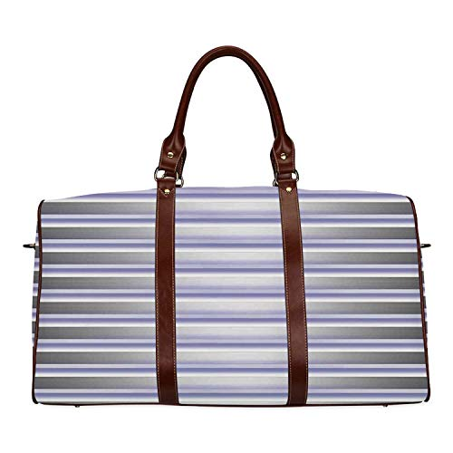 Modern Decor Personal Travel Bag,Stripe Tube like Bars Animation Inspired Digital Minimalist Graphic Art for Market,18.62