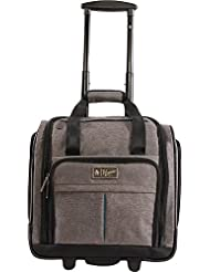 ORIGINAL PENGUIN Mens Ethan Wheeled Under the Seat Carry on Bag, Grey Crosshatch