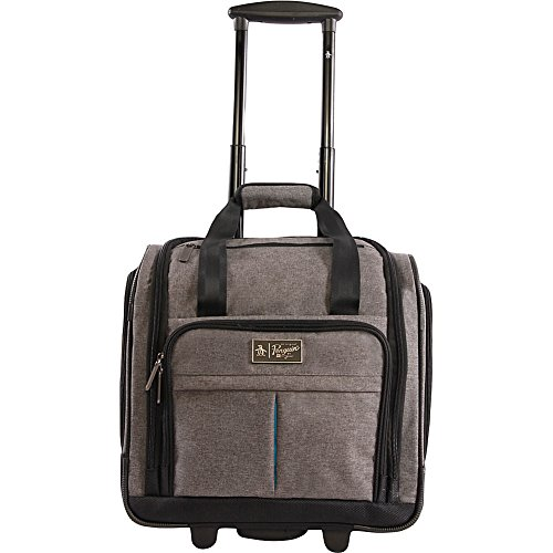 ORIGINAL PENGUIN Men's Ethan Wheeled Under the Seat Carry on Bag, Grey Crosshatch