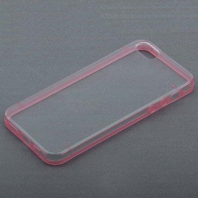 """iPhone 5S Hülle / Case / Cover in pink mit transparenter Rückwand aus hochwertigem Polycarbonat im """"2-Color-Style"""" -ORIGINAL nur von THESMARTGUARD-"""