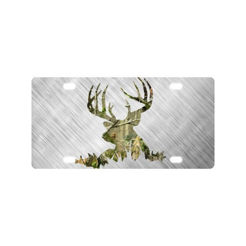 Silhouette Plate (Deer Silhouette Aluminum License Plate and Rust Proof Quality Product ,Car Plate 11.8