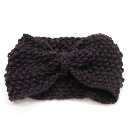 Crochet Flower Bow Knitted Headwrap Headband Ear Warmer Hair Muffs Band Winter -