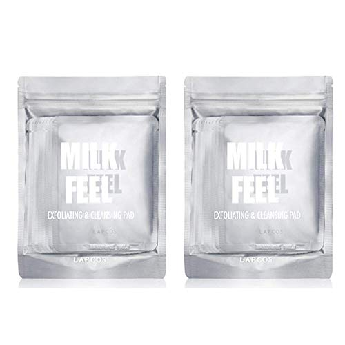 [LAPCOS] Milk Feel Cleansing Pad 7g Pack of 10 - 100 % Cotton Exfoliating Pad, Dead Skin Cells ()