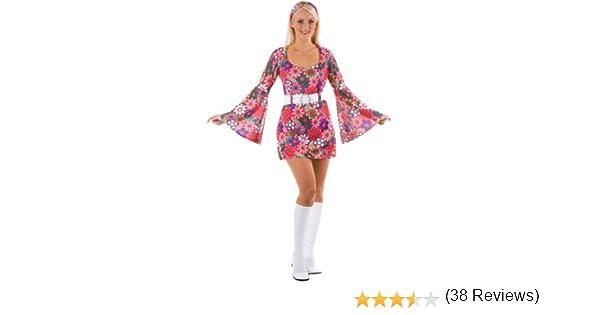 60s - Disfraz de hippie años mujer, talla L (EF-2060. L): Amazon ...