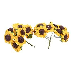 100pcs Artificial Flower Sunflower Bouquet for Home Wedding Decoration 4
