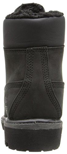 Timberland 6 In Fur Warm Black Roughcut Warm Lined CA115T, Boots