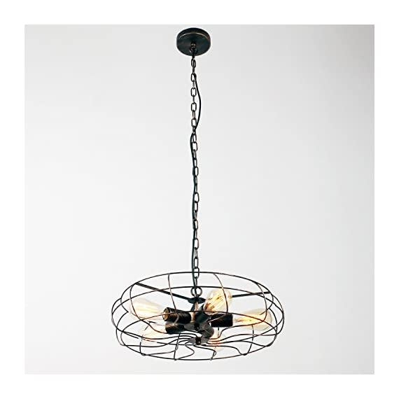 Unitary Brand Vintage Barn Copper Metal Hanging Ceiling Chandelier Max. 200W With 5 Lights Painted Finish - High quality,2 years guarantee. Installation type:Hardwired. Product Dimensions:44.09x18.5x18.5 inches.Suggested Space Size:20-25Sq.m.It's the perfect light fixture to install in kitchen,dining room,living room,foyers and more. Voltage:120V for North America.Max. Power:40Wx5 (bulbs not included) - kitchen-dining-room-decor, kitchen-dining-room, chandeliers-lighting - 41JxqBatDKL. SS570  -