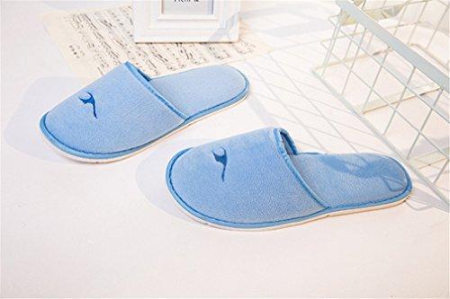 Size Chambre Bleu Femme 2 piscine hôtel Homme spa pour One jetables Hammam Pairs Chaussons non Jetable thalassothérapie éponge TUTH7qx