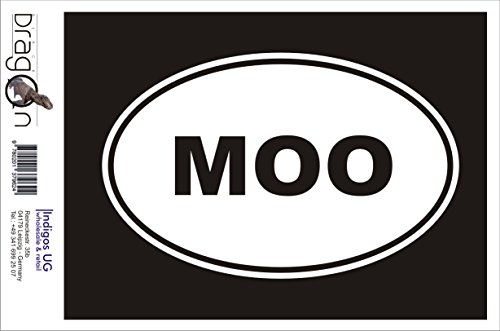 - Sticker / Bumper / Car / Vehicle / JDM / Die cut / OEM - MOO Sticker Cow Farm Animal Love Funny 180x120mm red