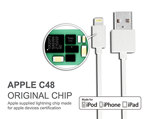 Apple-MFi-Certified-MTT-Lightning-to-USB-Cable-3ft-1m-with-Ultra-Compact-Connector-Head-for-iPhone-6-6Plus-5s-5c-5-iPad-Air-Air2-mini-mini2-mini3-iPad-4th-gen-iPod-touch-5th-gen-and-iPod-nano-7th-gen