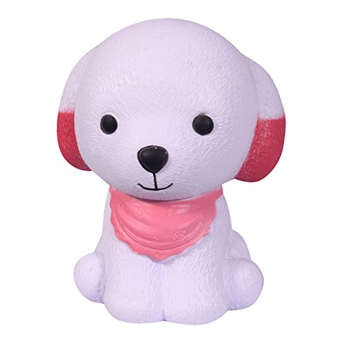 WeYingLe Squishy Toy Jumbo Slow Rising Squishies Scented Toys for Kids and Adults, Lovely Stress Relief Toy. 1 pcs Dog red