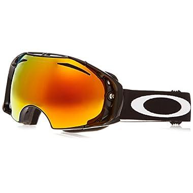 Oakley OO7037-30 Airbrake Eyewear, Jet Black, Fire Iridium Lens