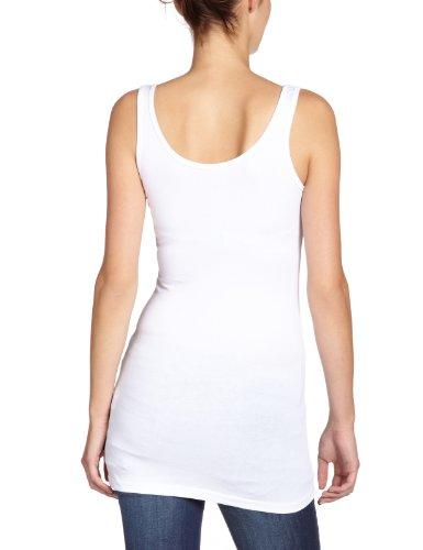 Only Onllive Love Long Tank Top Noos, Camiseta De Tirantes  Para Mujer Blanco (White)