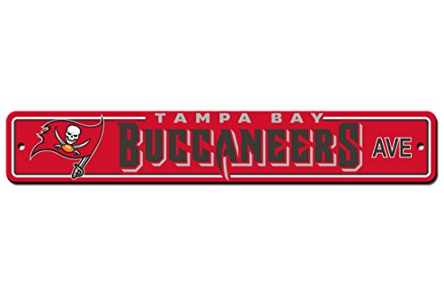 (Fremont Die NFL Tampa Bay Buccaneers Plastic Street Sign, 4 x 24-Inch, Team Color)