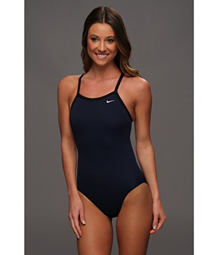 - Nike Women's Solid Poly Lingerie Tank One Piece Navy 30