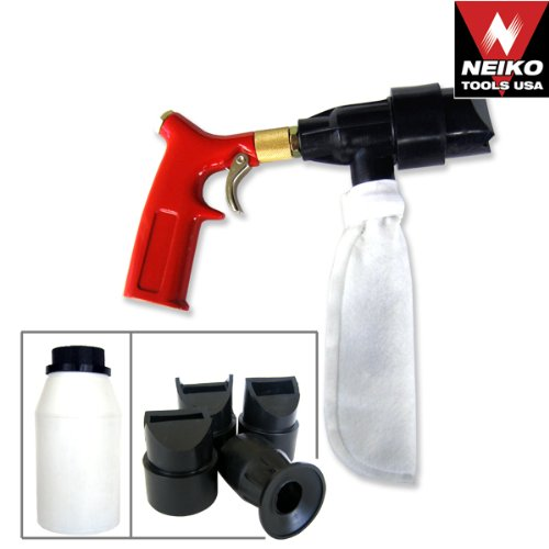 Spot Sand Blasting Gun Air Spot Blaster Kit- Closed Cycle Free Blast by Neiko